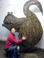 myself with giant squirrel